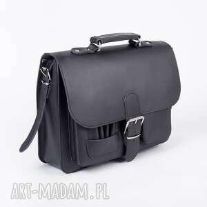 Ponadczasowa Teczka Vintage - Must have! (kolor czarny), teczkaskórzana