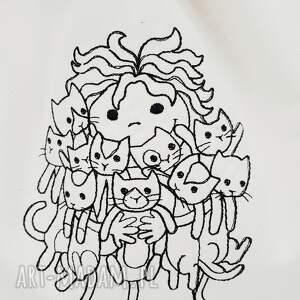 crazy cat lady plecak worek - Ręcznie wykonane