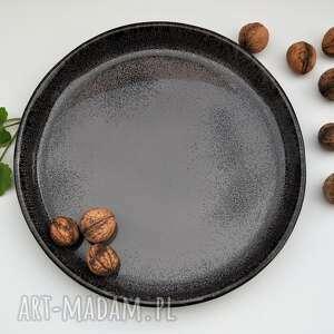 patera ceramiczna - taca talerz z wysokim rantem, ceramika, patera
