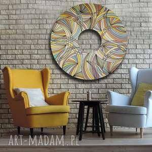 magiczny krąg 2, tondo, abstrakcja, koło, akryl, malarstwo