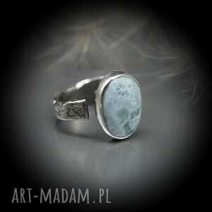 branickaart drobny larimar pierścionek aerin, srebrny pierścionek, pierścień