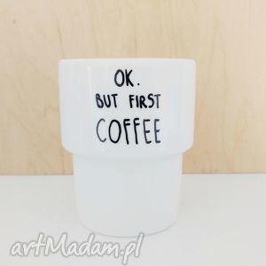 kubek bez ucha coffee - ,kubek,coffee,kawa,porcelana,malowana,skandynawski,