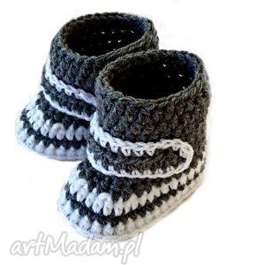 handmade buciki kozaczki buciki dla chłopca lub dziewczynki szydełkowe