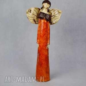 anioł w jesiennym stylu ceramika, anioł, styl jesienny