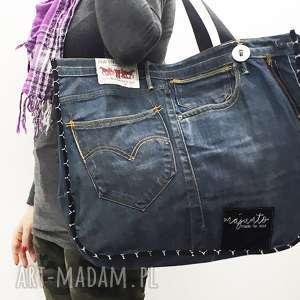duża torba upcykling jeans 23 levi strauss, jeans