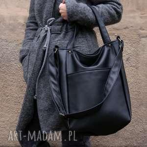 iks pocket czerń gładki, vegan, kieszeń, torba, torebka, casual, miasto