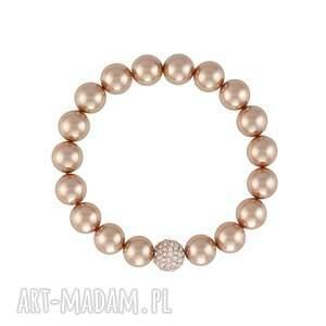 bransoletka z perły swarovskiego - pearly chic, perła swarovskiego, perła, swarovski