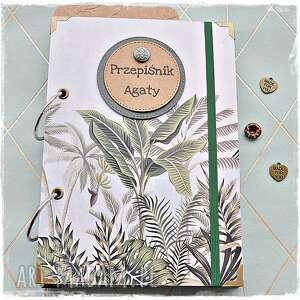 handmade scrapbooking notesy niekończący się przepiśnik imienny