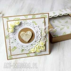 kartka ślub rocznica - z sercem, prezent