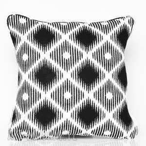 poduszki poduszka rhombus - black 40x40cm, poduszka, poduszka-ozdobna