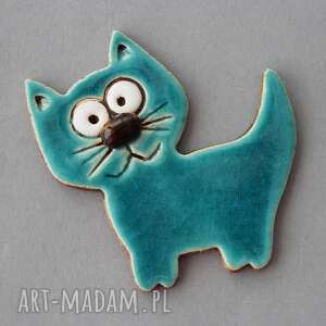pod choinkę prezent, kocisko-magnes ceramika, minimalizm, kot, kociara