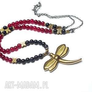 hand made naszyjniki dradonfly /gold/ - naszyjnik