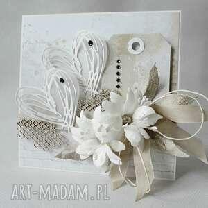 ślubna kartka w pudełku, ślub, zaproszenia, gratulacje scrapbooking kartki