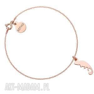 handmade bransoletki bransoletka z różowego złota z kameleonem
