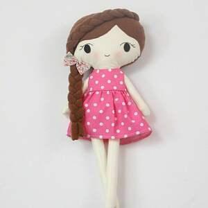 lalki lalka przytulanka ania, 45 cm, lala prezent, szmacianka