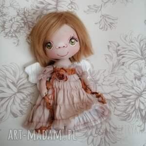 hand-made dekoracje aniołek gołąbek - dekoracja ścienna figurka tekstylna ręcznie szyta