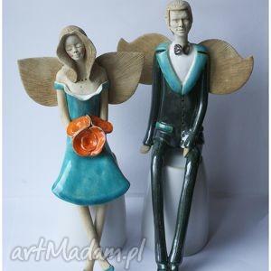 Para anelska VII, ceramika, anioł
