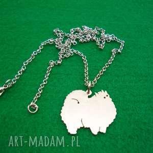 naszyjnik szpic miniaturowy pomeranian pies nr 97, naszyjnik, z psem, rasy