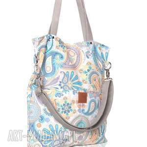 Duża torba w pastelowe wzory torebki bags philosophy pastelowa