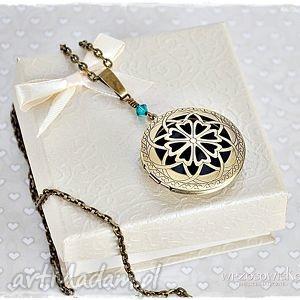 sekretnik ażurowy - naszyjnik, wisior, medalion, swaarovski, sekretnik, prezent