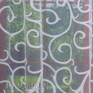 manufaktura firan firana żakardowa scroll, firana, firanka, żakard, salon, wzór