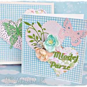 Młodej Parze - kartka w pudełku personalizowana, kartka, ślub, slubna, kwiaty, młodej