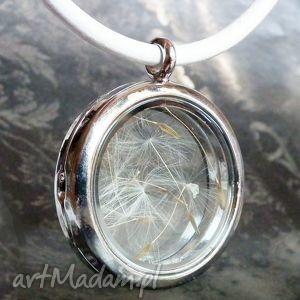 medalion z dmuchawcami - dmuchawiec, dmuchawcem, niesztampowy, skóra, oryginalny
