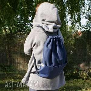 handmade plecak vege troczek granat