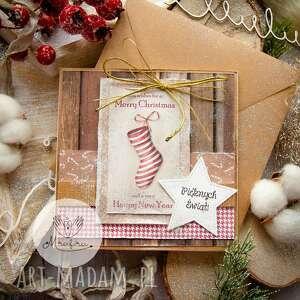 ręcznie wykonane prezent pod choinkę magiczna kartka na święta bożego narodzenia