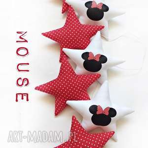 MOUSE red - girlanda, gwiazdki, mouse, myszka