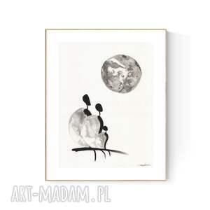 grafika 30x40 cm wykonana ręcznie, abstrakcja, obraz do salonu, 2986835
