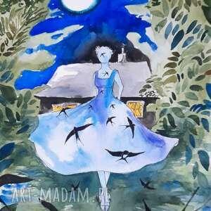 adriana laube art poezja akwarela artystki adriany - obraz na papierze a3