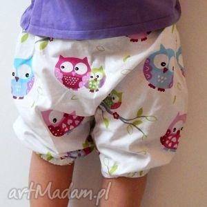 ubranka spodnie dziecięce pumpy, spodnie, dziecko, sowy, szerokie