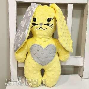 maskotki królik z uszami, maskotka minky dla dziecka, prezent na urodziny