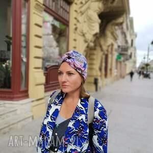 hand-made czapki turban uniwersalny kolor orientalny, box w1, poezja:) standardy się
