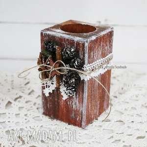 ręcznie zrobione świeczniki świecznik drewniany, 265
