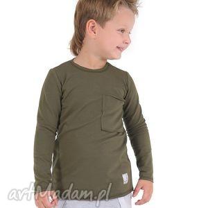 ubranka bluzeczka khaki, bawełna, bluzka, jesień, kieszeń dla dziecka