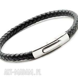 Skórzana bransoletka z zapieciem zatrzaskowym męska pmpb style
