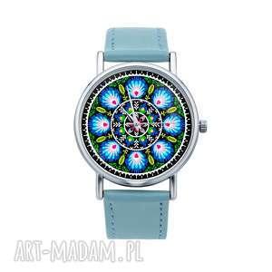 zegarki zegarek z grafiką wianek, folk, wycinanka, łowicka, łowickie, prezent