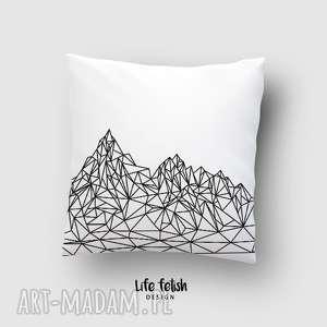 poduszki poduszka z górami outline, poduszka, poszewka, dom, grafika, lowpoly, góry