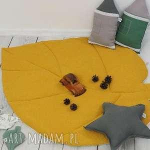 betulli mata liść musztardowa waffle cotton, liść, do zabawy, duża
