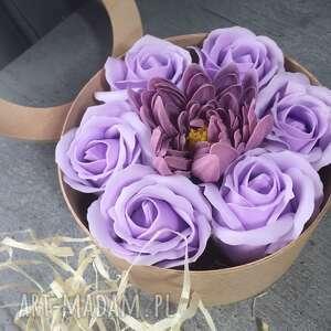 flowers with soap kwiaty z mydełka, flowers, box, oryginał, prezent