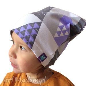 czapka mozaika, czapka, dresówka, romby, dziecko ubranka
