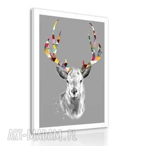 Obraz na płótnie 70x100cm JELEŃ SKANDYNAWSKI 0260, obraz, jeleń, płotno, deer