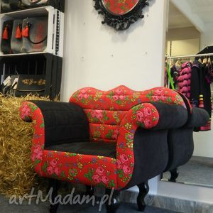 dom fotel folk design aneta larysa knap, fotel, meble