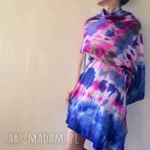 szaliki szal wełniany ręcznie barwiony, szal, wełniany, ciepły, prezent