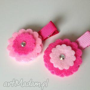 hand-made dla dziecka spineczki kwiatuszki