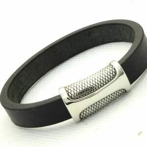 pmpb style czarna skórzana bransoletka z magnetycznym zapięciem, prezent