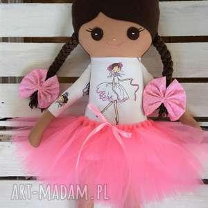 ręcznie zrobione lalki szmacianka, szmaciana lalka mulatka w tutu