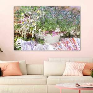lawenda dla renoira obraz na płótnie 120 x 80 cm, do salonu